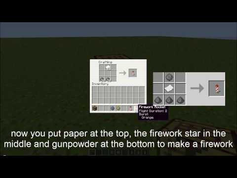 Minecraft how to make fireworks