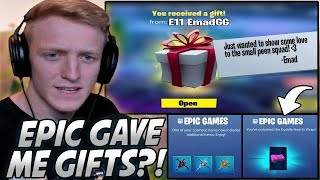 "Tfue Was SHOCKED After Getting RANDOM Gifts From Epic AND His Friend! ""Gifting Is Back?!"""