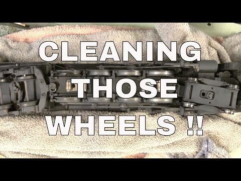 Cleaning the wheels on a O scale locomotive