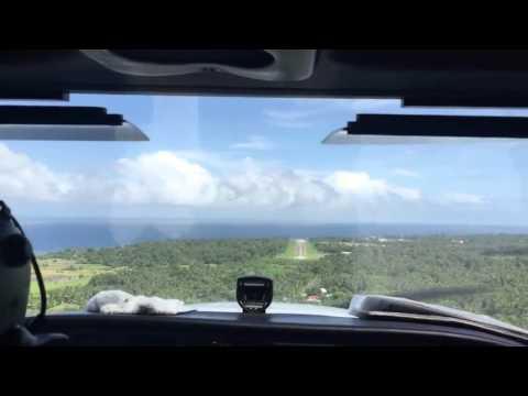C172 landing in Camiguin, Philippines