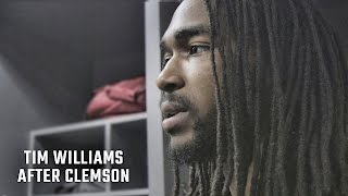 Hear what an emotional Tim Williams said after Alabama