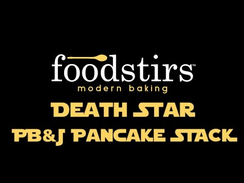 How to Make DIY Death Star Rogue One PB&J Star Wars Pancakes Stack