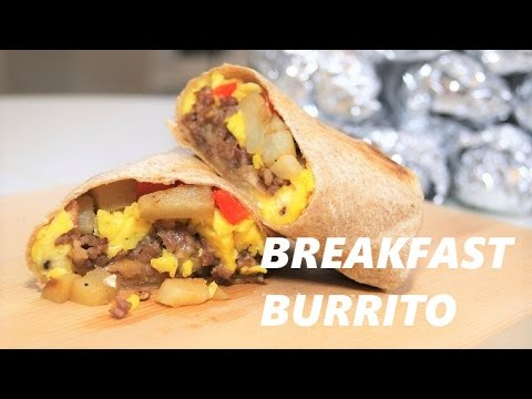 [ Freezer Meal ] Sausage and Egg Breakfast Burrito