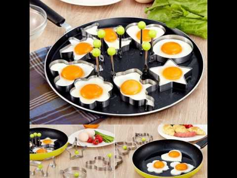 Review:  Slomg 8pcs Set Fried Egg Rings Mold Non Stick for Griddle Pan