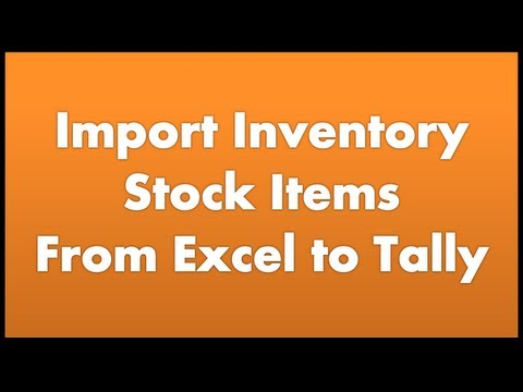 Import Inventory Stock Items From Excel to Tally