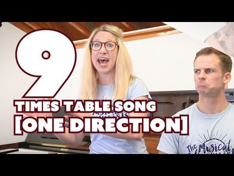 9 Times Table Song • One Direction COVER - What makes you beautiful cover