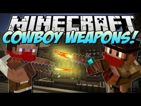 Minecraft | COWBOY WEAPONS! (Flintlock Weapons Mod!) | Mod Showcase [1.5.2]