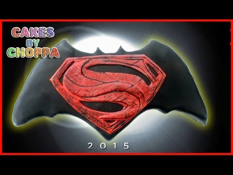 Batman Vs Superman Logo Cake (How To) Feat: ThatsSoNathan