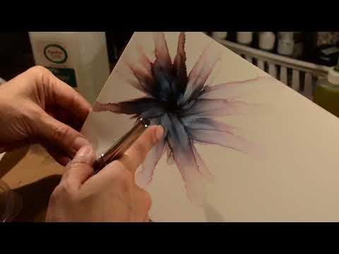 Alcohol Ink Art - Flower Technique Video