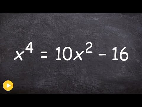 How To Solve a Polynomial Equation Raised to the Fourth Power