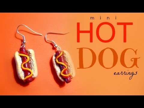 HOT DOG EARRINGS - Polymer Clay Tutorial
