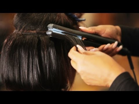 How to Flat Iron Hair Tracks for Weave | Black Hairstyles