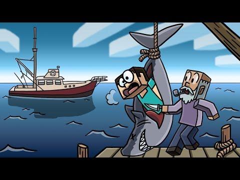 Minecraft   HUMAN EATING SHARK HUNTER CHALLENGE! (Shark Attack Mystery)