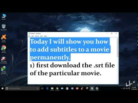 How to add subtitles to vlc permanently( in simple steps)