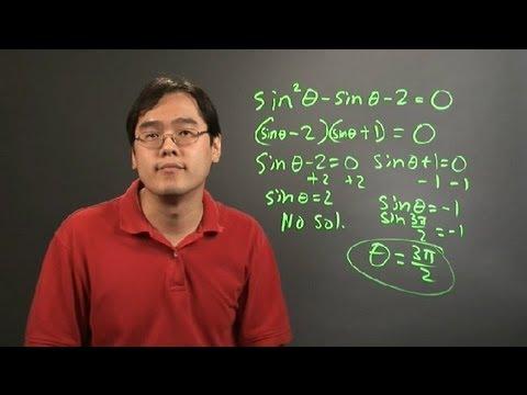 How to Solve Trigonometric Equations by Factoring : Trigonometry Education