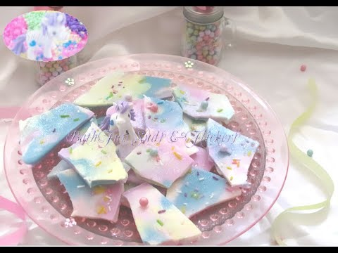 Unicorn Splash How to make brittle wax melts