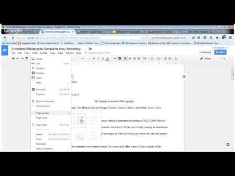 Format annotated bibliography in Google Docs