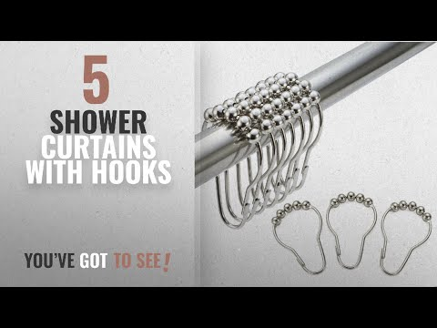 Top 10 Shower Curtains With Hooks [2018]: Amazer Rustproof Stainless Steel Shower Curtain Rings