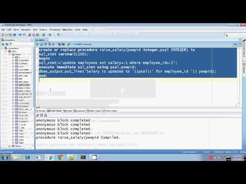 Oracle execute immediate dynamic sql procedure in parameter Part 6