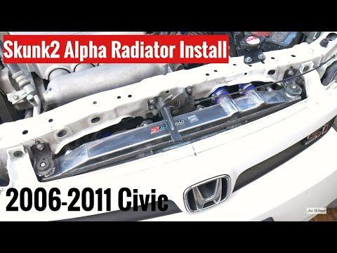 How to Replace Radiator 06-11 Civic DIY - Skunk2 Alpha Radiator Install