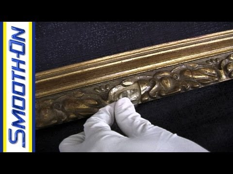 Mold Making Tutorial: How to Repair an Antique Picture Frame with Silicone Putty