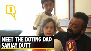 When Sanjay Dutt's Kids Joined Him for The Quint's Interview - The Quint