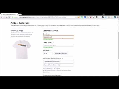 How to Change your T-Shirts Brand Name in Merch By Amazon