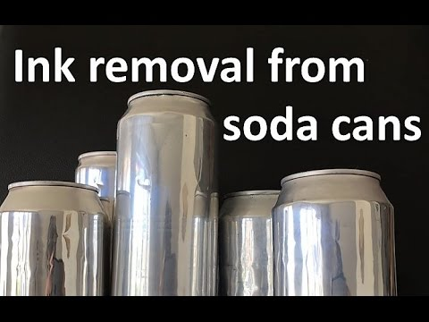 Ink removal from soda can