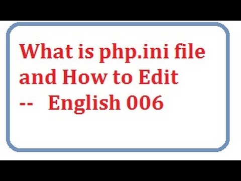 what is php.ini file and how to edit english-vlr training