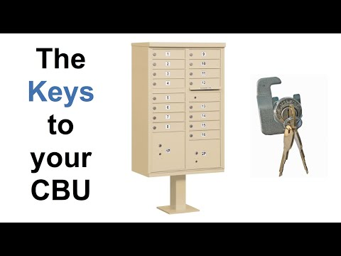 Budget Mailboxes | Opening the Master Doors & How to Find Your CBU Keys