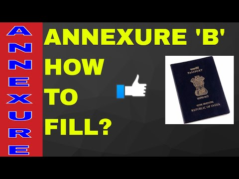 HOW TO FILL ANNEXURE 'B' FOR PASSPORT? ALL INFO WITH SAMPAL! ON YOUR DEMAND!! (HINDI)