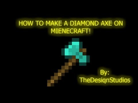 How to make a Diamond Axe Statue on Minecraft