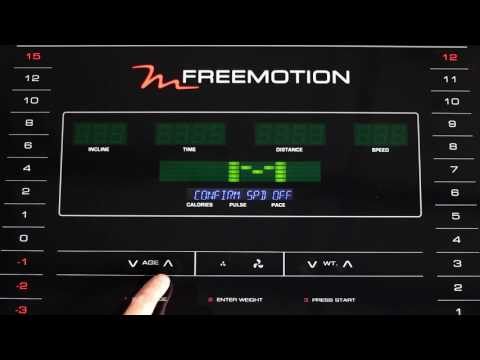 Console Controls, FreeMotion Commercial Treadmill