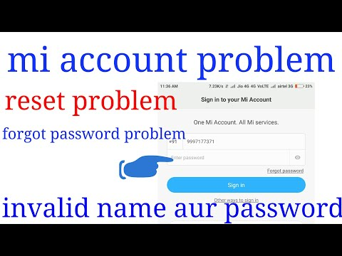 Mi account error sign in and reset your phone and sign out problem solved watch video