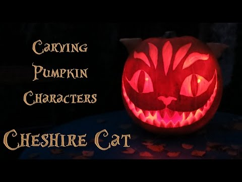 Pumpkin carving - Cheshire cat