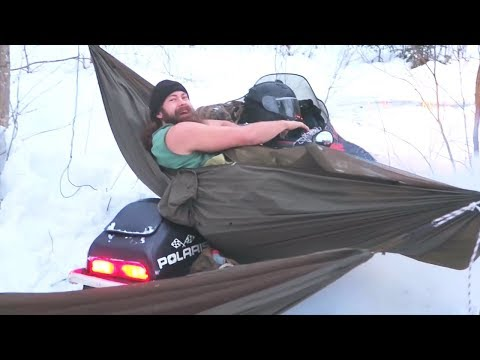 SNOWMOBILE CAMPING !!    HOLIDAY FEAST IN THE MOUNTAINS