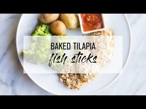 Baked Tilapia Fish Sticks