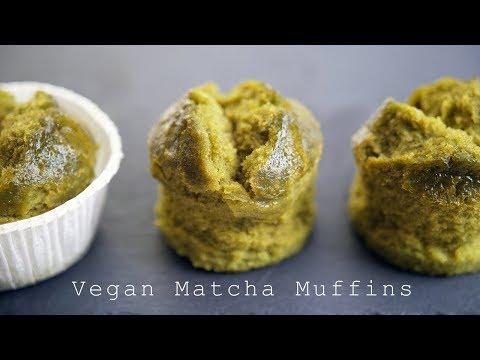 【vegan】水で作るもっちもちのビーガン抹茶マフィン ~ Vegan Matcha Muffin【料理レシピはParty Kitchen🎉】