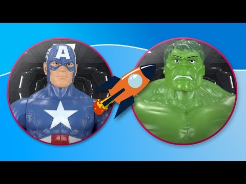 Hulk vs Captain America. The Avengers fight in space