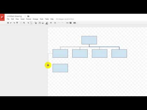 How-To use Google Drawing to create an Organization Chart