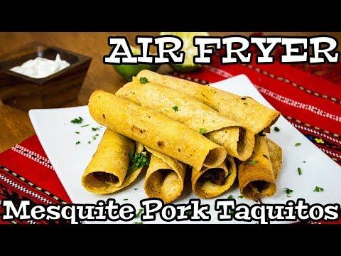 Mesquite Pork Taquitos   AIR FRYER RECIPES   The Starving Chef