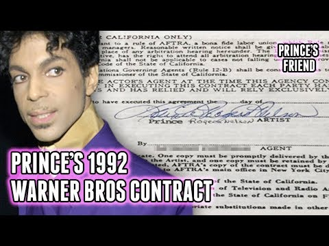 Prince's 1992 Warner Bros. Contract Explained! (Record-Breaking!!)
