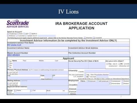 Brokerage Account IRA Application Form