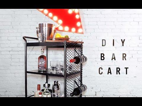 DIY BAR CART/ KITCHEN CART MAKEOVER