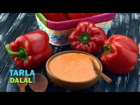 Roasted Bell Pepper Dip by Tarla Dalal
