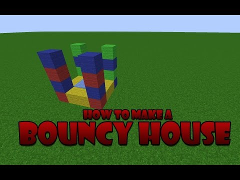 How to build a small bouncy house - Minecraft tutorial