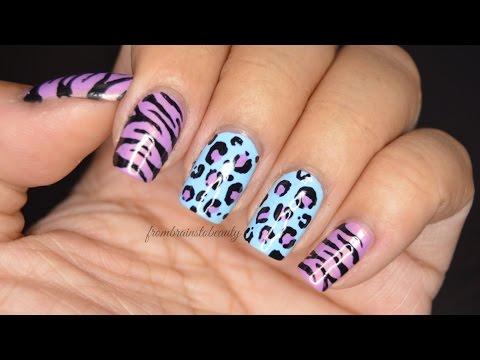Easy Animal Print Nail Tutorial | Acrylic Paint