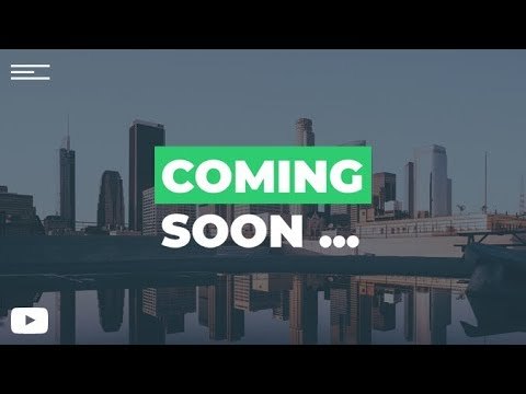 Coming Soon Page - Full Landing Page Using Only HTML & CSS