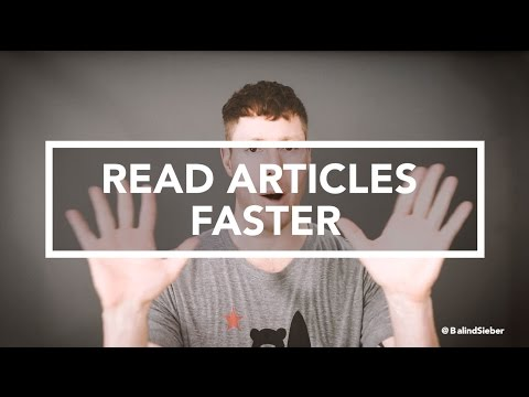 Learn & Absorb Reading Material 3x Faster Than You Can Now