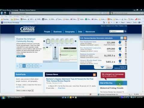 Analyzing US Census Bureau Educational Attainment Data Using Excel